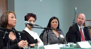 UPR-Panel (l-r Cecilia Chung, Shirley Tan, Sylvia Guererro, Shannon Minter)