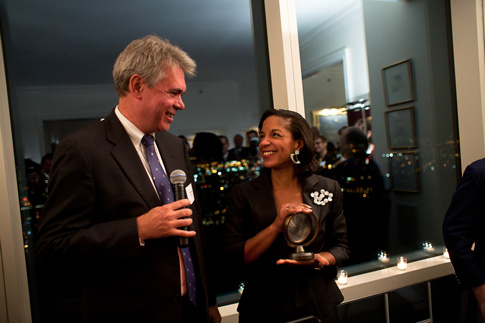 Ambassador Susan E. Rice accepting The Global Equality Leadership Award