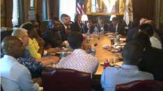 Global Activists  Meet at the White House. International AIDS Conference