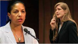 Susan Rice and Samantha Power