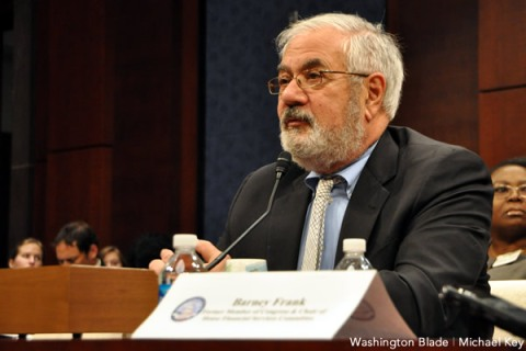Former Rep. Barney Frank (D-Mass.) (Washington Blade photo by Michael Key)